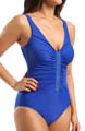Go Glam Jewel Box Beaded Trim One Piece Swimsuit Image