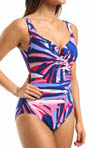 Miraclesuit Swim Frond-Do! Escape Side Shirred One Piece Swimsuit 471166