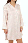 Miss Elaine Brushed Back Satin Nightshirt 186143
