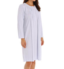 Miss Elaine Diamond Honeycomb Long Sleeve Short Gown 261824