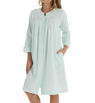 Silkyknit Brushed Waffle Snap Front Robe Image