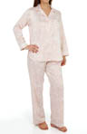 Miss Elaine Brushed Back Satin PJ Set 406143