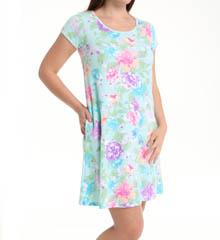Miss Elaine Interlock Knit Gown 809844