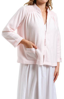 Miss Elaine Brushed Back Terry Bed Jacket 816003