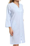 Miss Elaine Seersucker Short Zip Robe 837723