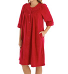 Brushed Back Terry Snap Front Short Robe Image