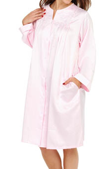 Miss Elaine Brushed Back Satin Short Robe