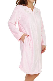 Miss Elaine Coral Fleece Robe 856503