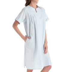 Miss Elaine Seersucker Solid Gown 859694