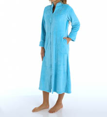 Miss Elaine Cuddle Fleece Long Sleeve Zip Front Robe 861534