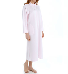 Miss Elaine Quilt-In-Knit Long Robe 861884