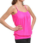 MSP by Miraclesuit Sheer Stripe Scoop Neck Miraslim Tank 4509