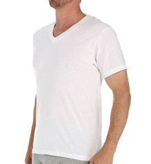 Cotton V-Neck T-Shirt - 3 Pack