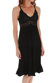 Mystique Intimates Bliss Knit Ballet Length Gown 21905