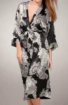Mystique Intimates Raeanna Long Print Kimono 30593
