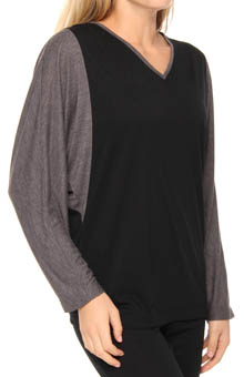 Taki Jersey Color Block Top