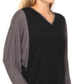 N by Natori Sleepwear Taki Jersey Color Block Top TC5011
