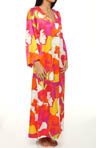 N by Natori Sleepwear Annala Printed Charmeuse Caftan UC0013