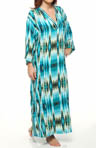 N by Natori Sleepwear Amihan Printed Rayon Challis 52' Caftan UC0016