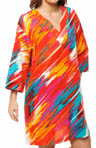 N by Natori Sleepwear Anak Printed Cotton Sateen Caftan UC2019