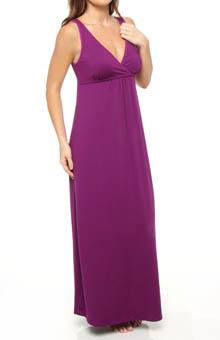 N by Natori Sleepwear Salyo Solid Butterknit Maxi Gown UC3006
