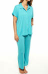 Taki Solid Jersey Button Front PJ Set