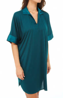 N by Natori Sleepwear Congo Sleepshirt with Satin Accents VC2008