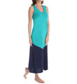 N by Natori Sleepwear Oasis Long V-Neck Gown WC2007