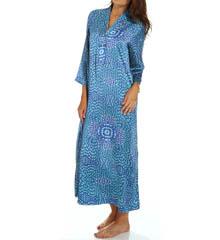 N by Natori Sleepwear Cosette Printed Satin Caftan XC0010