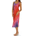 N by Natori Sleepwear Ombre Printed Satin Gown XC3009