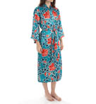 Russian Floral Printed Charmeuse Robe Image