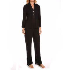 N by Natori Sleepwear Congo with Satin Solid Pajama Set XC6008