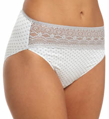 Wonderful Edge Lace Trim Hi-Cut Panty