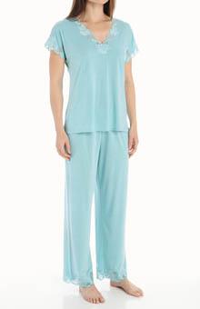 "Natori Sleepwear Zen Floral 28"" Short Sleeve PJ Set M76084"