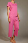 Natori Sleepwear Beijing Capri Solid Knit PJ N76091