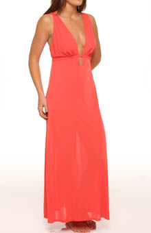 Enchant Solid Slinky Knit Gown