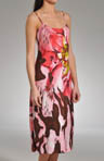 "Natori Sleepwear Mekong Printed Gown 46"" Long S73017"