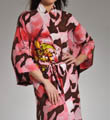 "Natori Sleepwear Mekong Printed Robe 49"" Long S74017"