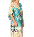 Natori Sleepwear Ming Printed Silky Charmeuse Caftan T70017