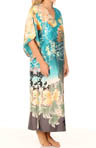 Ming Printed Silky Charmeuse Caftan