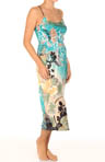 Ming Printed Silky Charmeuse Gown