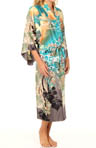 Ming Printed Silky Charmeuse Robe