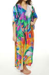 Natori Sleepwear Sagala Printed Georgette Caftan U70010