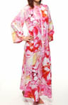 Natori Sleepwear Bellarocca Printed Charmeuse 52&quot; Zip Caftan U70011