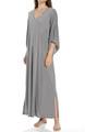 Natori Sleepwear Shangri-La Solid Poly Modal Caftan U70048