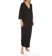 Natori Sleepwear Zen Floral Lace Trim Long Caftan U70049