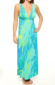 Natori Sleepwear Lagoon Printed Slinky Knit Long Gown U73042