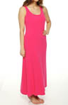 Jersey Solid Knit Maxi Gown with Shelf Bra