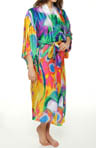 Natori Sleepwear Sagala Printed Georgette Robe U74006