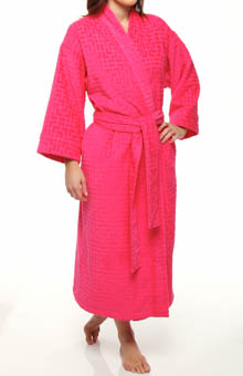 Ming Solid Terry Jacquard Robe